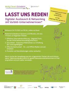 Perfekt zum Netzwerken: die Zoom-Konferenz mit Vorbild-Unternehmerinnen zu bestimmten unternehmerischen Themen