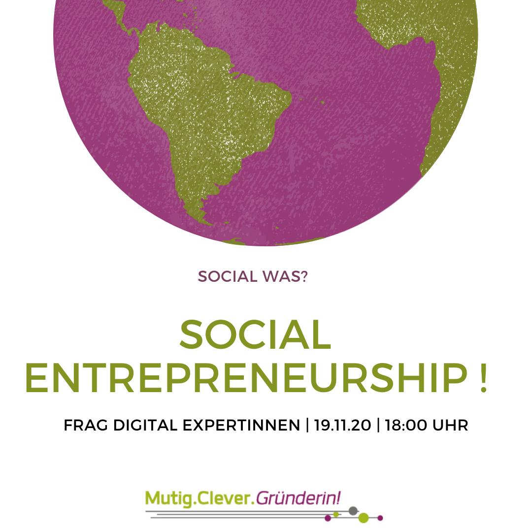 Social Entrepreneurship – was ist das? Dieses digitale Seminar klärt darüber auf